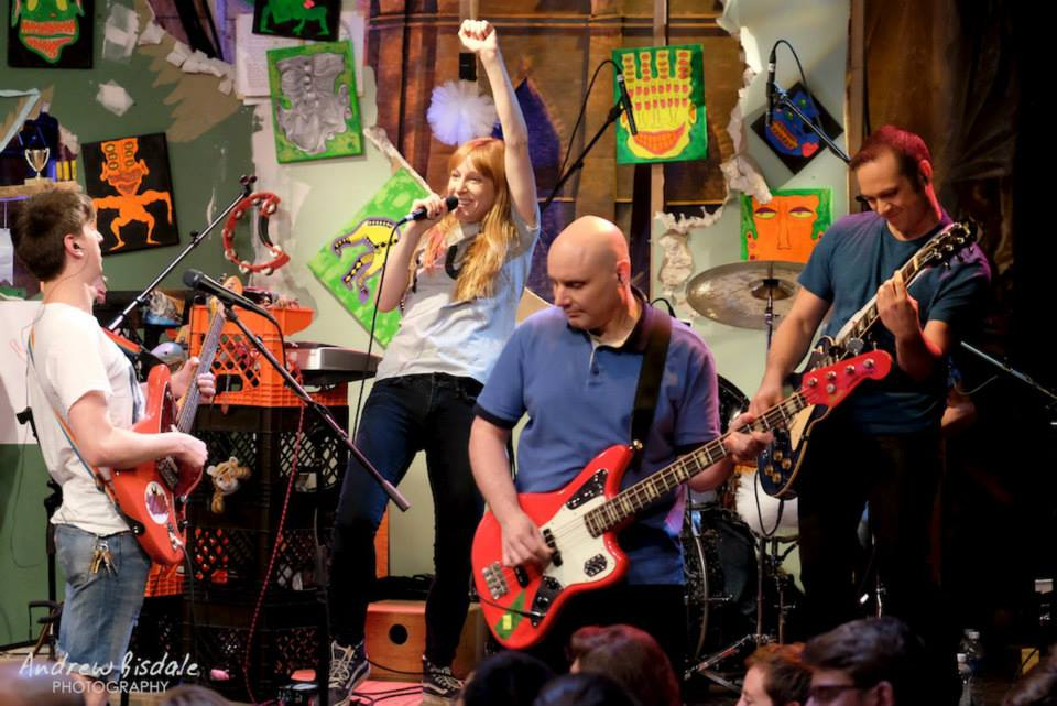 Hallie and house band The LLC on The Chris Gethard Show
